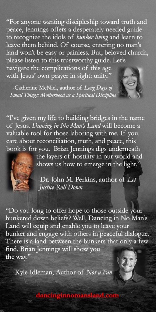Respected leaders encourage you to read Dancing in No Man's Land.